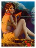 Starlight Wahine, Hawaiian Pin-up Girl, c.1920s Posters par Gene Pressler