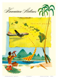 Hawaiian Airlines, Travel Brochure, c.1950s Prints