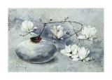 Oriental Magnolias I Art by Franz Heigl