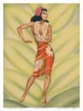 Graceful Dancer, Hawaiian Hula Dancer c.1940s Posters by  Gill