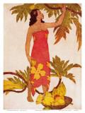 Breadfruit, Royal Hawaiian Hotel Menu Cover c.1950s Art par John Kelly