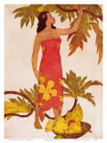 Breadfruit, Royal Hawaiian Hotel Menu Cover c.1950s Art by John Kelly