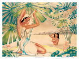 Hawaiian Bathing Beauties c.1930s Prints by  Gill