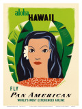 Aloha Hawaii, Fly Pan American Airways, c.1953 Posters by Edward McKnight Kauffer