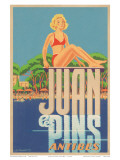 Juan Les Pins, Antibes, France, c.1930s Print by A. Kow