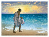 Hawaiian Fisherman, c.1925 Prints by Charles W. Bartlett
