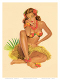 Hawaiian Pin-Up Girl, 1949 Affiches par Al Moore