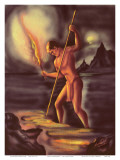 Night Fisherman, Cover from The Story of Hawaii, c.1930s Posters by Ted Mundorff
