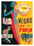 Fly TWA Las Vegas, c.1960 Posters by David Klein