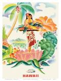 Matson Lines to Hawaii, Tropical Abundance c.1930s Kunst af Frank MacIntosh