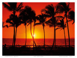 Red Hawaiian Sunset Art by Randy Jay Braun