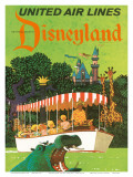 United Airlines Disneyland, Anaheim, California, 1960s Poster by Stan Galli