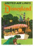 United Airlines Disneyland, Anaheim, Kalifornien, 1960-talet Poster av Stan Galli