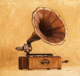 Antique Phonograph Art by Conde