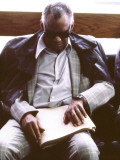 Ray Charles Reading Braille Photo