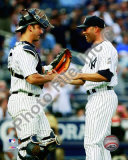 Jorge Posada congratulates Mariano Rivera Photo