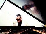 Ray Charles in the Studio at RPM International, Los Angeles Photo