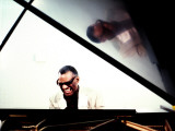 Ray Charles in the Studio at RPM International, Los Angeles Photographie