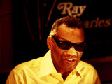 Ray Charles Filming for the BBC Photo