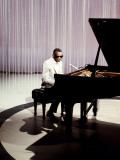 Ray Charles Filming for NBC Posters