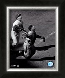 Yogi Berra - catching action / sepia Print