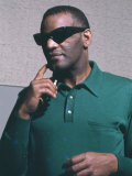 Ray Charles Taping a Coca-Cola Radio Commercial, 1967 Posters