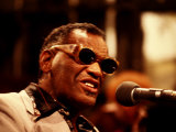 Ray Charles Singing Photo