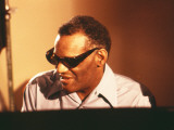 Ray Charles in the Recording Studio Photo