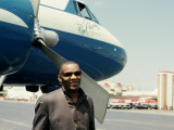Ray Charles Outside His Private Jet Posters