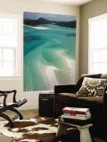 Australia, Queensland, Whitsunday Coast, Whitsunday Islands, Whitehaven Beach, Aerial View Wall Mural by Walter Bibikow