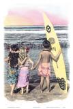 Niños surfistas Láminas por  Himani