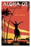 Aloha Oe, Farewell to Thee, Music Sheet, c.1930 Prints by LeMorgan 