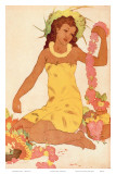 Leimaker, Royal Hawaiian Hotel Menu Cover c.1950s Print by John Kelly