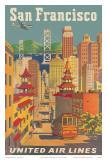 United Airlines San Francisco c.1950 Kunstdrucke von Joseph Feher