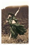 Primitive Hula, Hawaiian Hula Dancer Art by Alan Houghton
