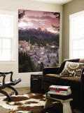 Skyline of St. Moritz, Graubunden, Switzerland Wall Mural by Doug Pearson