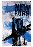 NYC (Blue) Prints by Bobby Hill