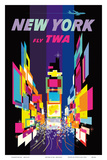 Fly TWA New York c.1958 Prints by David Klein