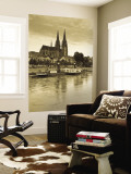 St. Peter Cathedral and Town, Dom, Regensburg, Bavaria, Germany Wall Mural by Walter Bibikow