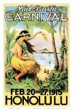 Karneval des Mittleren Pazifiks, 1915 Poster