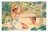 Belles nageuses d'époque Posters par  Gill