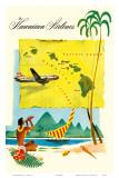 Hawaiian Airlines, Travel Brochure, c.1950s Print