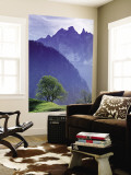 Mountain Landscape, Switzerland Mural por Peter Adams