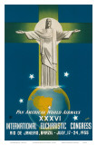 Pan American Airways Rio de Janeiro, Brazil, Christ on the Cross, c.1955 Prints by La Motta 