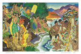 Festival of the Sea, Traditional Hawaiian Celebration Posters by Eugene Savage