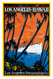 Los Angeles-Hawaii, Los Angeles Steamship Company, c.1920s Posters