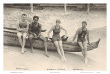 Duke Kahanamoku and Friends on Waikiki Beach, Honolulu, Hawaii Posters