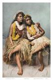 Bellezas hawaianas de época Pósters