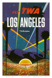 Fly TWA Los Angeles, Hollywood Bowl, c.1958 Posters by David Klein