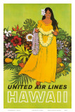 United Air Lines, Hawaii, The Lei Offering Print